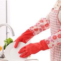加厚防水家务洗碗手套6双