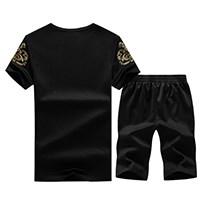 男士速干短袖t恤+七分裤套装