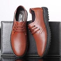 夏季男士镂空透气皮鞋