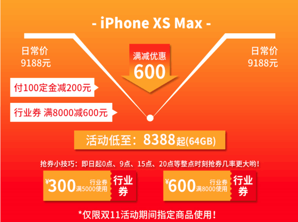 Apple 苹果 iPhone XS Max 智能手机 64GB