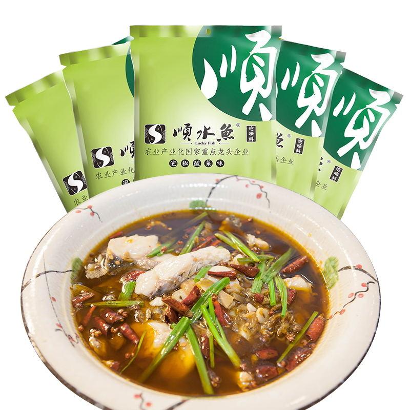 五斗米泡椒酸菜味鱼料5*240g