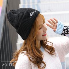 时尚百搭秋冬保暖毛线帽