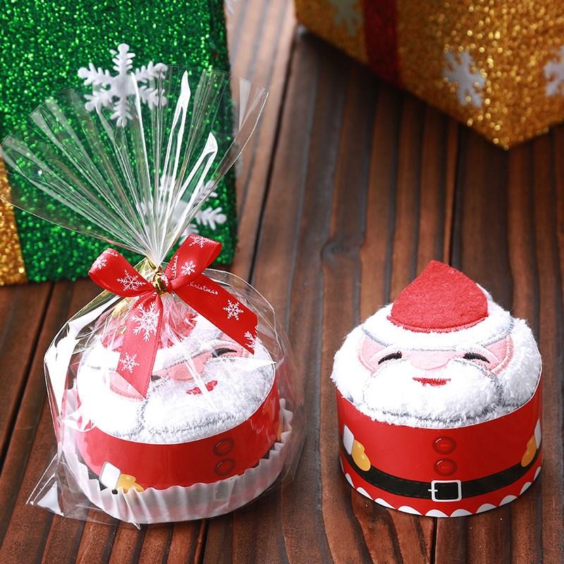 创意儿童圣诞礼物蛋糕毛巾