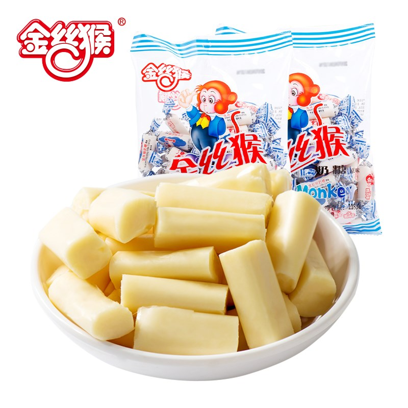 金丝猴圆柱牛奶糖118g*3袋