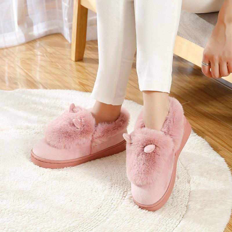 室内居家厚底保暖棉拖鞋