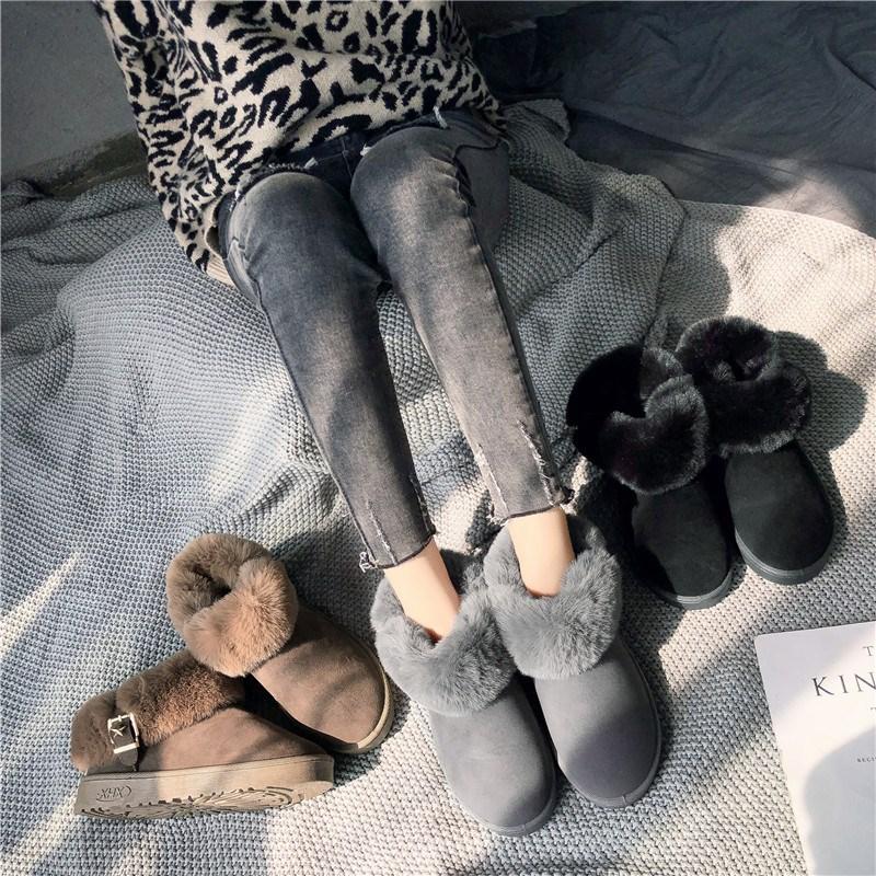 【加绒加厚】保暖牛反绒雪地靴