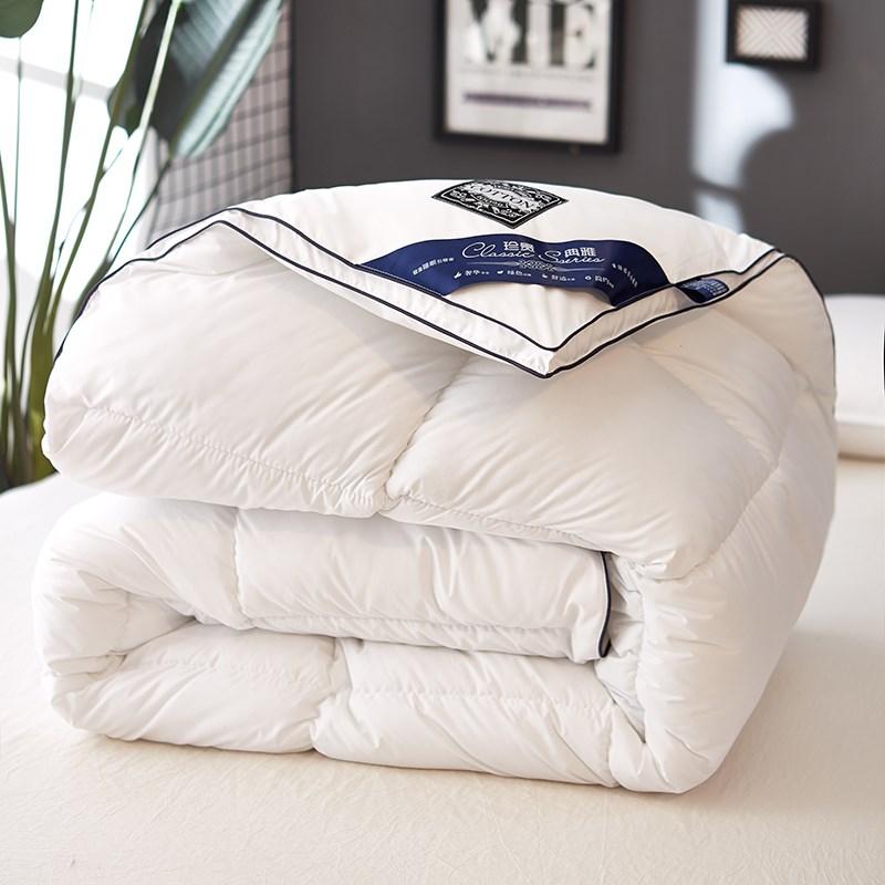 95%白鹅绒羽绒被+送法兰绒毛毯一条