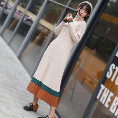 秋冬新款套头针织连衣裙