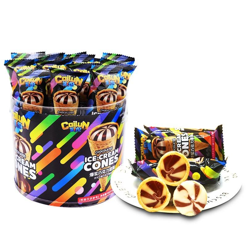 星球杯桶装爆浆巧克力甜筒