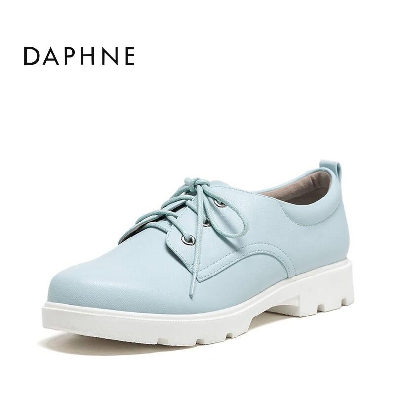 达芙妮低跟深口单鞋