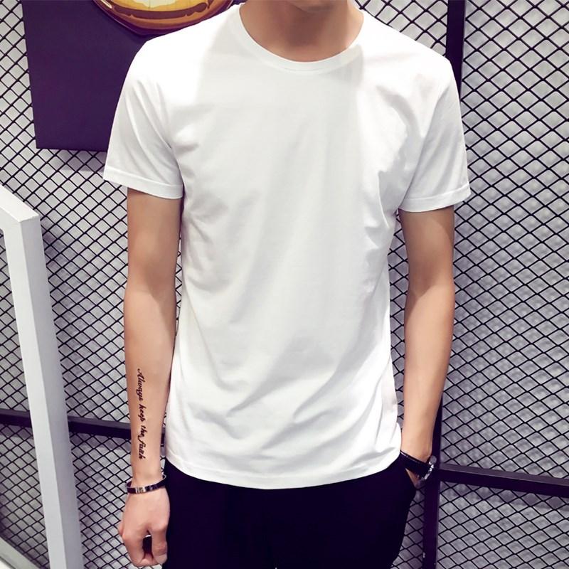 韩版男士潮流修身短袖t恤