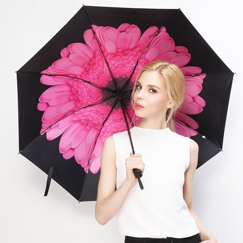羚羊早安黑胶防晒晴雨伞