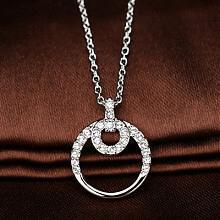 施华洛世奇银色同心圆水晶项链