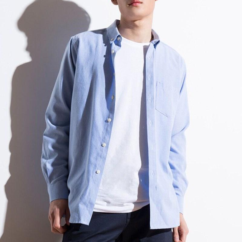 梵杉新款男士长袖牛津衬衫