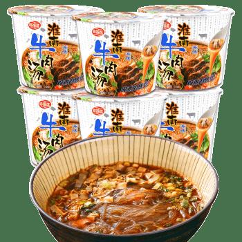 海福盛淮南牛肉汤原味粉丝6杯