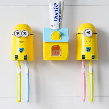 免打孔吸壁式儿童牙刷架