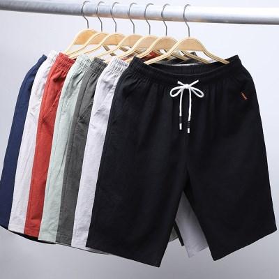 日系男士纯棉五分休闲运动短裤