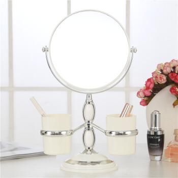 镜子台式双面化妆镜便携式公主镜