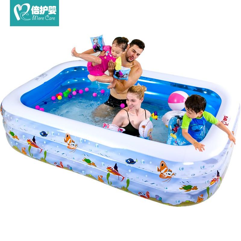 倍护婴 多功能两环充气泳池/球池