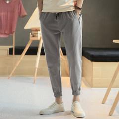 韩版男士休闲哈伦裤潮流纯棉运动裤
