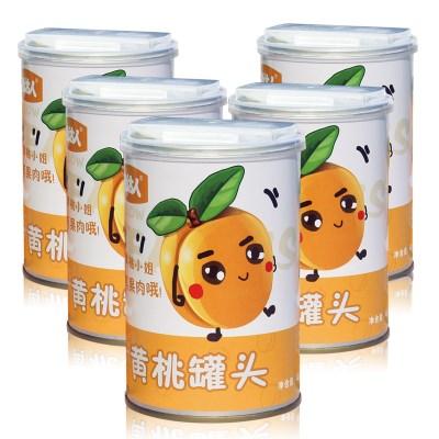 新鲜果味黄桃罐头425gx5罐