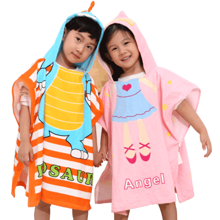 儿童浴袍带帽斗篷披风