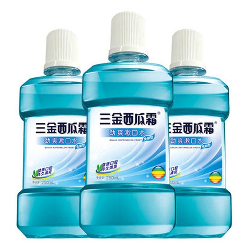 三金西瓜霜防蛀漱口水3瓶