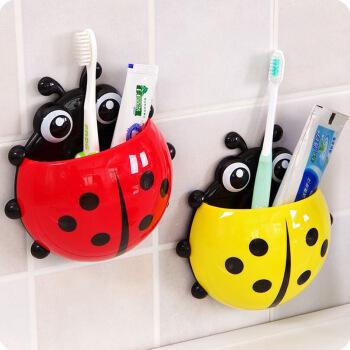 乾竞2个瓢虫牙刷架