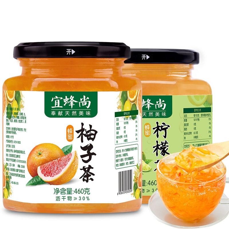 柚子茶+柠檬茶组合460g*2瓶