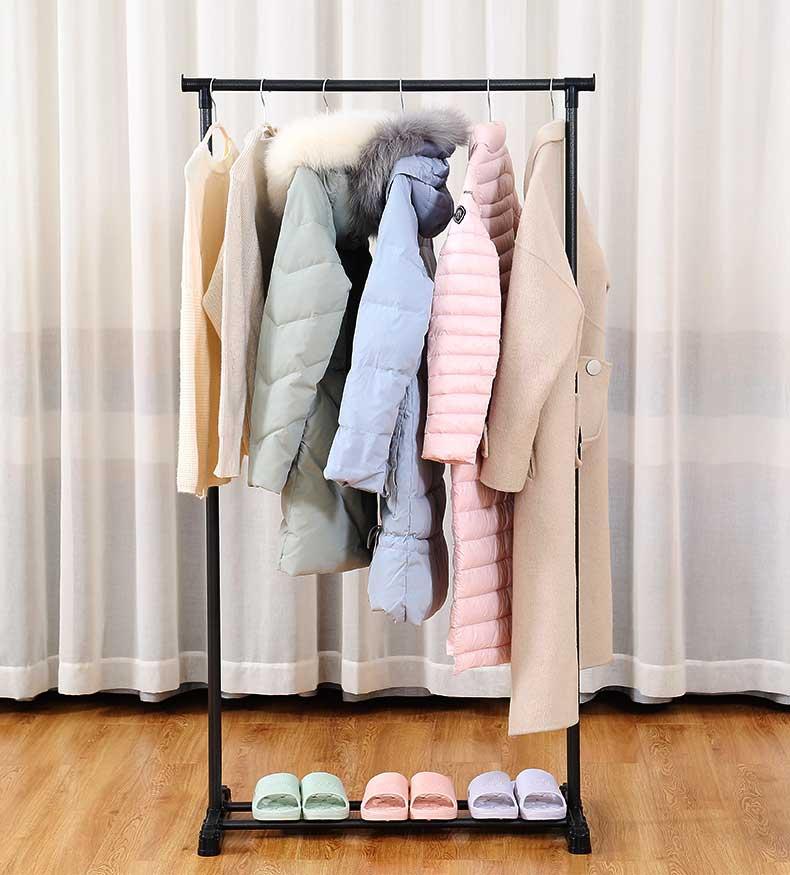 可米熊室内单杆晾衣架