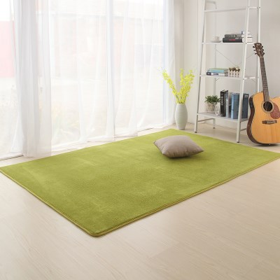 华秀简约珊瑚绒地毯0.4x1.2米