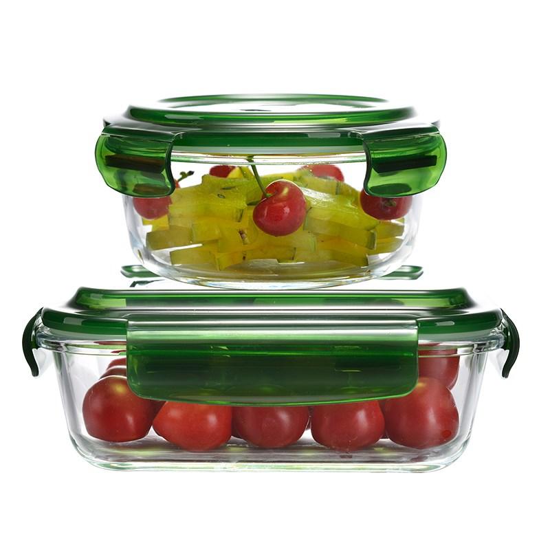 玻璃饭盒微波炉保鲜盒2个装