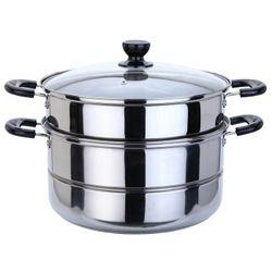美厨 精惠 不锈钢蒸锅 二层26cm