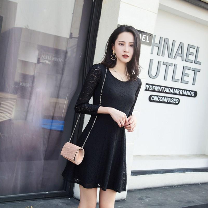 天庆夏季新款蕾丝紧身显瘦连衣裙