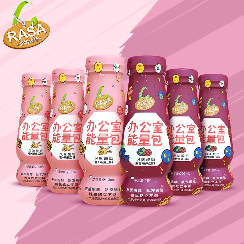 RASA欧式常温酸奶200ml*6瓶
