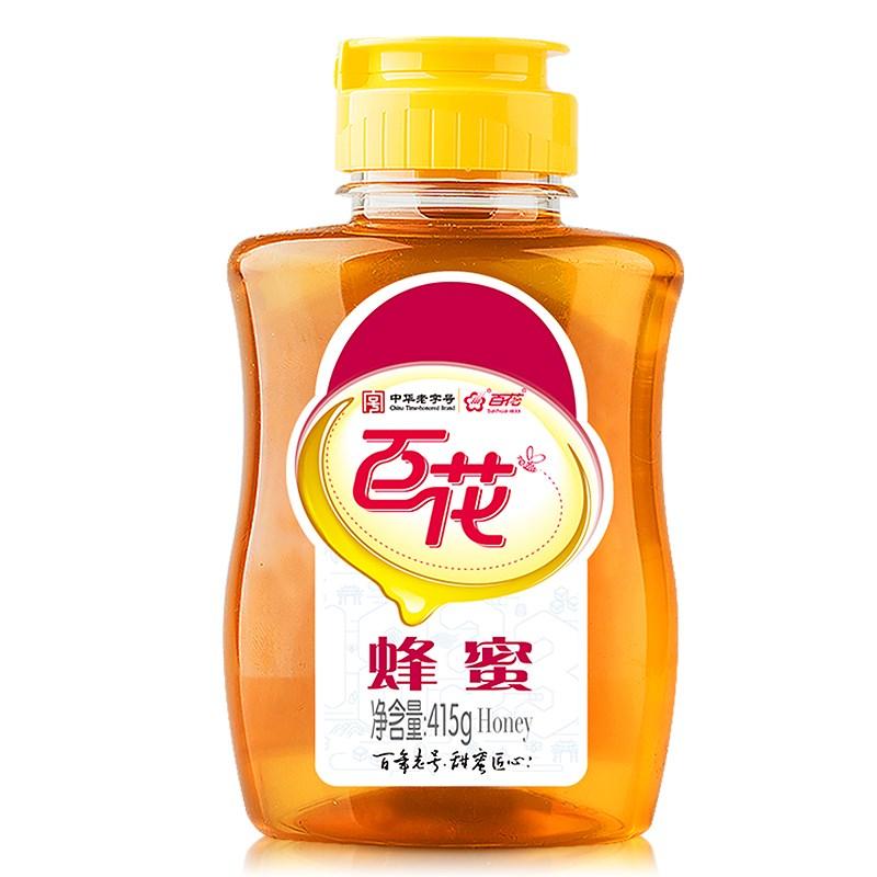 拍3件!百花牌野生蜂蜜415g*3瓶