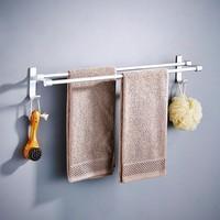 百圣 免打孔浴巾架 双杆 60cm